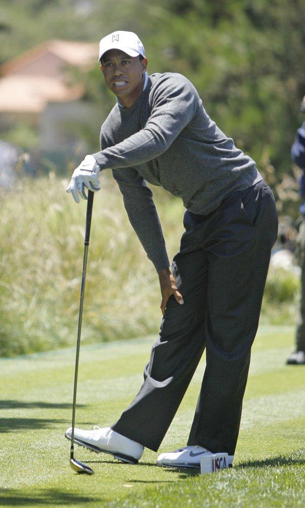 Tiger Woods shot 74 in Round 1.