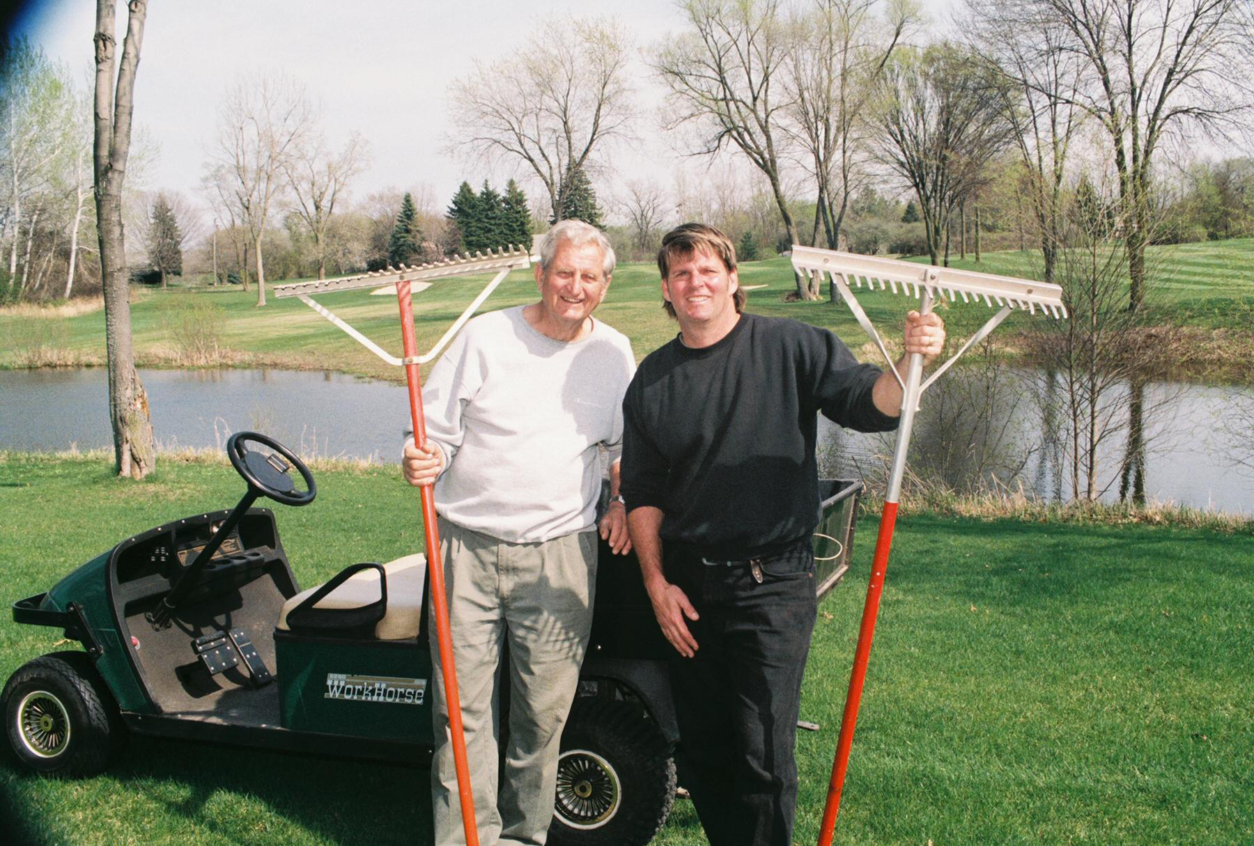 John and Doug Kazenko at Kirkside Golf Club in Michigan.