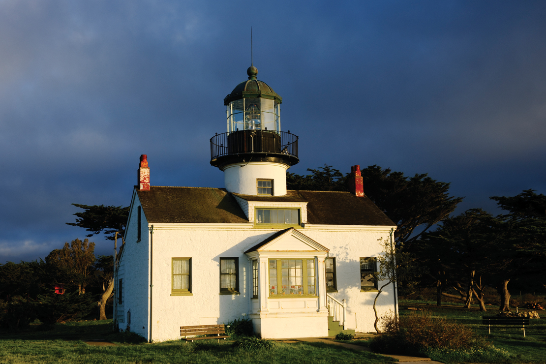 Point Pinos Lighthouse stands watch over Pacific Grove's back nine.