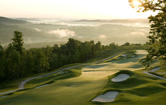 No. 6 at the Pete Dye Course at French Lick Resort in Indiana.
