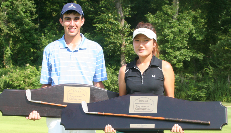 Anthony Paolucci and Kristen Park with their ToC hardware.