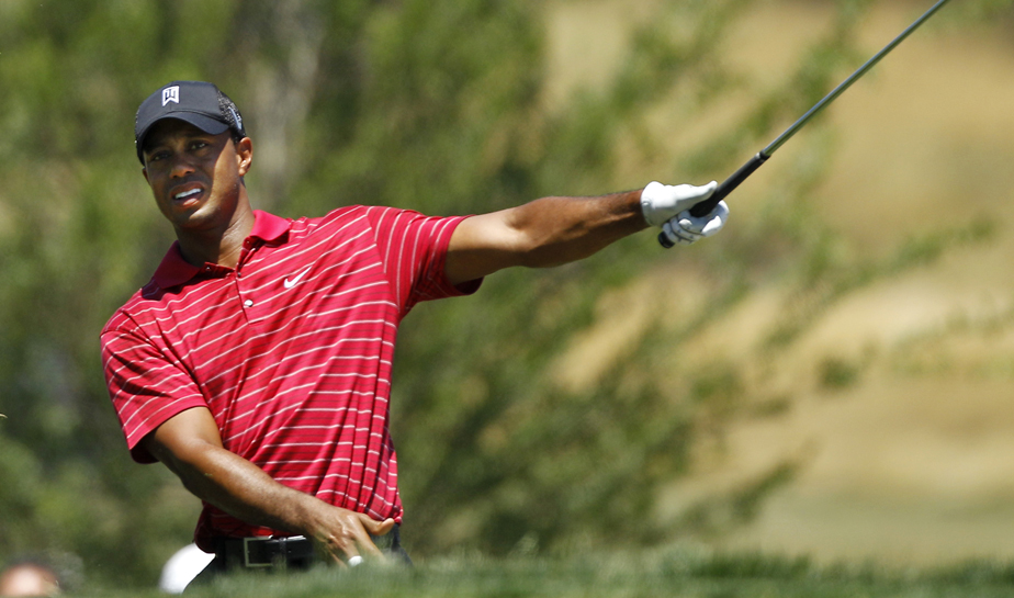 Tiger Woods during the final round at the AT&T National.