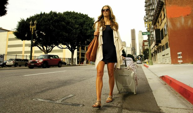 "Anna Rawson poses in Los Angeles for ""Golfweek for Her."""