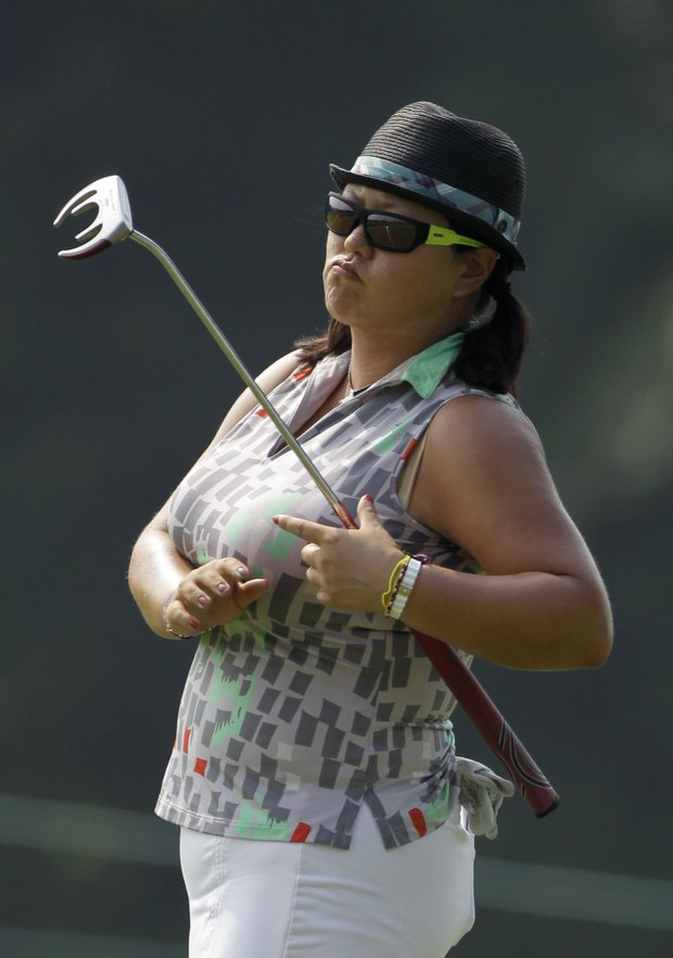 Christina Kim during a practice round for the Women's U.S. Open.