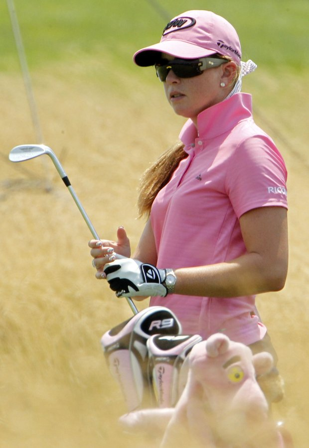 Paula Creamer during a practice round at the U.S. Women's Open.