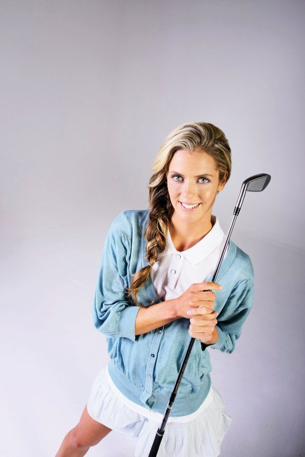 """Anna Rawson poses in Los Angeles for """"Golfweek for Her."""""""