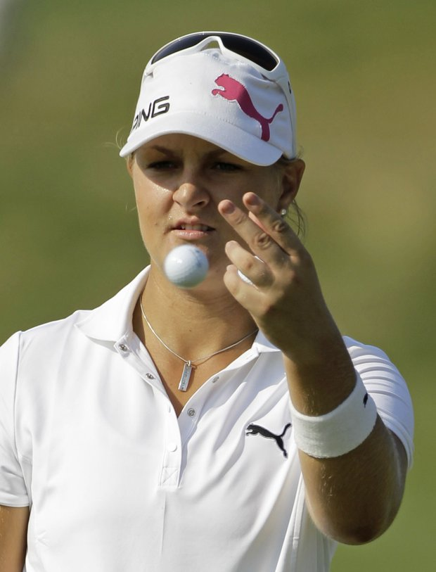 Anna Nordqvist of Sweden during a practice round for the U.S. Women's Open.