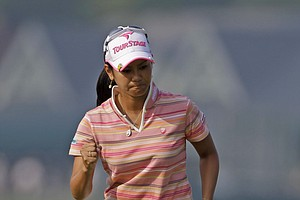 Ai Miyazato of Japan during the first round of the U.S. Women's Open.