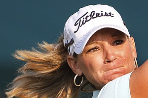 Kristy McPherson during the first round of the U.S. Women's Open.