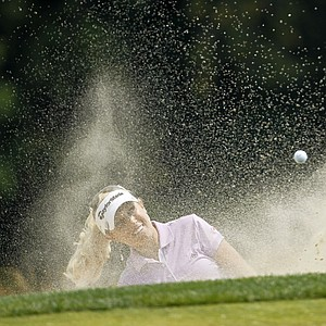 Natalie Gulbis hits out of a bunker during the first round of the U.S. Women's Open.
