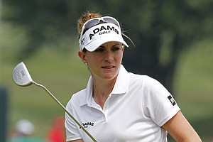 Brittany Lang shot 74 during the second round of the suspended U.S. Women's Open.