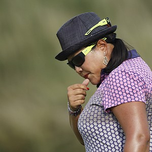 Christina Kim reacts to a missed putt during Round 3 of the U.S. Women's Open.
