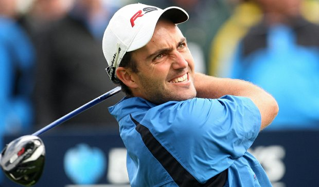 Edoardo Molinari during the final round of the Scottish Open at Loch Lomond Golf Club.
