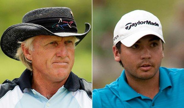 Australians Greg Norman, Jason Day