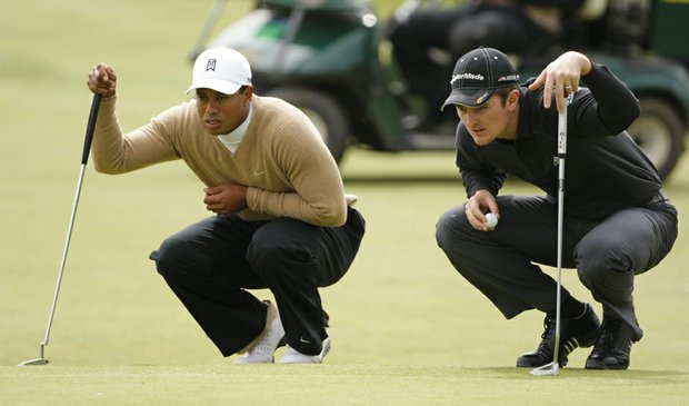 Tiger Woods and Justin Rose are paired with Camilo Villegas for the first two rounds of the British Open.