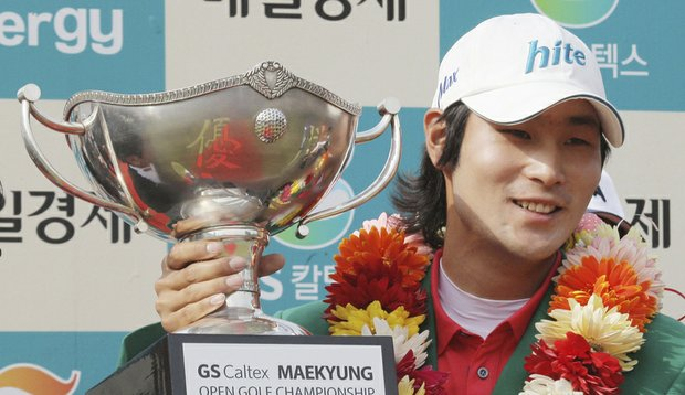 South Korean Kim Dae-hyun won the OneAsia Tour's Maekyung Open on May 9.