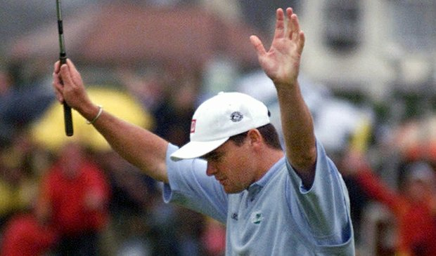 Paul Lawrie after winning the 1999 British Open at Carnoustie.
