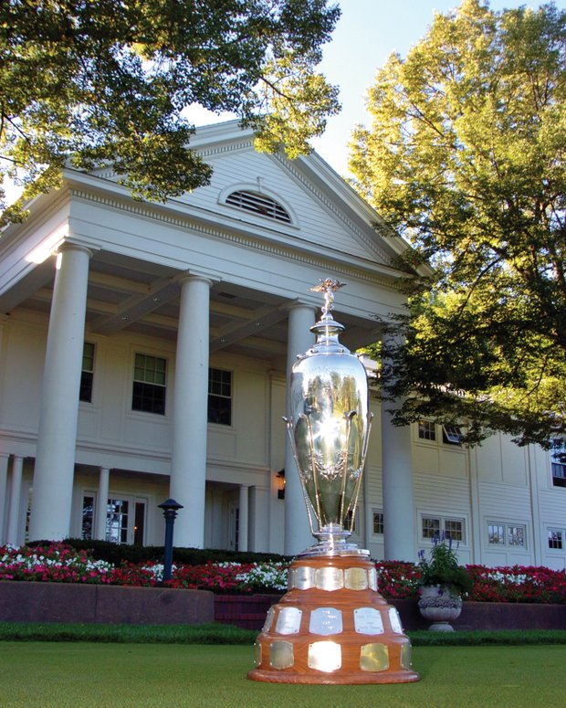 The Trans-Miss Championship trophy will be awarded to a stroke-play winner for the first time at this week's event.
