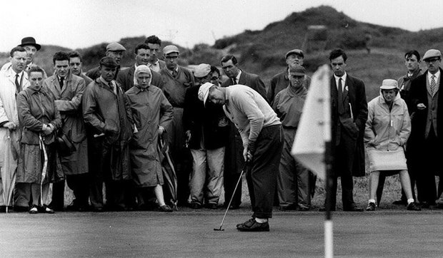 Kel Nagle in 1961 at Royal Birkdale. But the Australian's luck came in 1960 at St. Andrews when he beat Arnold Palmer by a stroke to win the Open Championship.