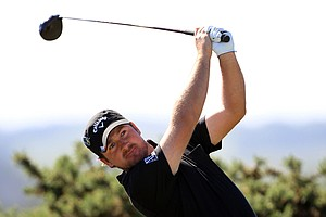 U.S. Open champion Graeme McDowell during a practice round for the British Open.