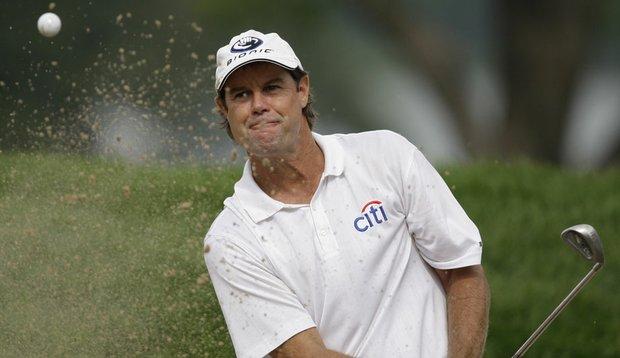 Paul Azinger hits a shot at the 2009 PGA Championship.