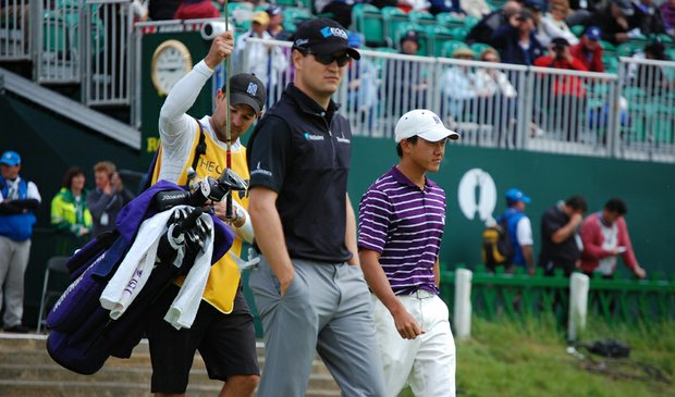 Eric Chun was paired with Zach Johnson and Martin Kaymer for the first two rounds of his first British Open.