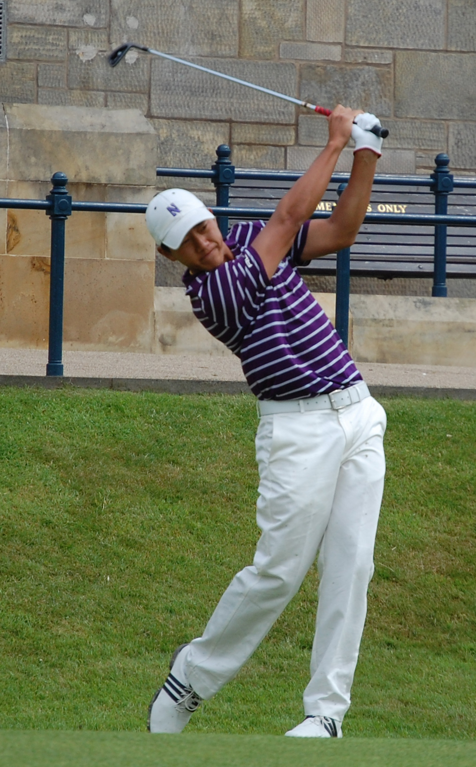 Eric Chun shot 1-under 71 in his first round at St. Andrews.
