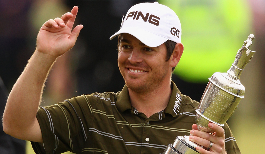 Louis Oosthuizen with the Claret Jug.
