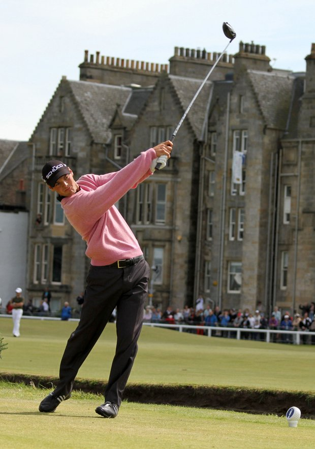 Martin Kaymer hits off the second tee during the final round of the British Open.