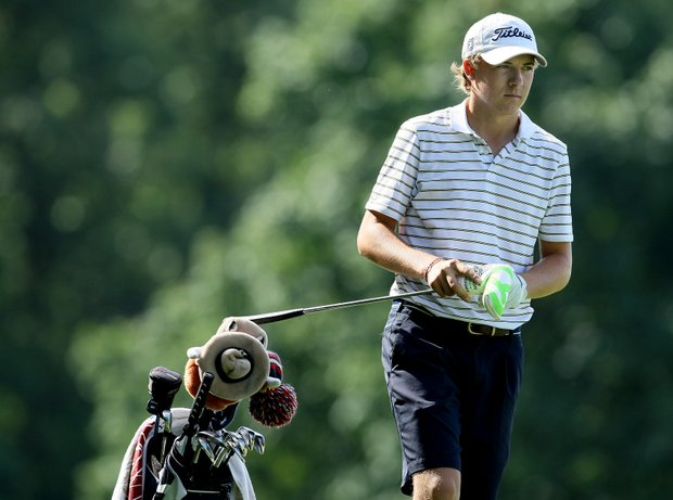 Jordan Spieth of Dallas, Texas posted a 67 at the 63rd U. S. Junior Amateur Championship at Egypt Valley Country Club.