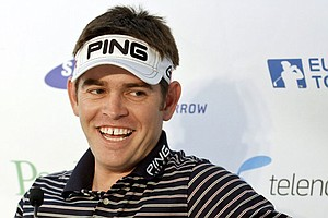 Louis Oosthuizen at a press conference for the Scandinavian Masters.