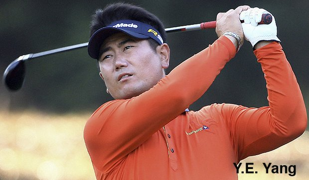 Y.E. Yang of South Korea became the first Asian-born player to win a major golf title when he won the 2009 PGA Championship.