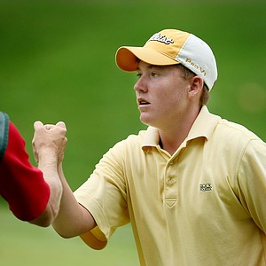 Robby Shelton of Alabama took down the defending champion, Jordan Spieth during Wednesday's Round of 32.
