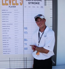Scott Rohrer shot 71 in the opening round to set a new Special Olympics scoring record.