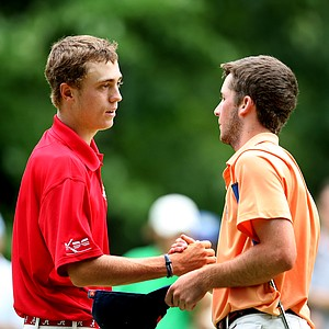 Justin Thomas beat Denny McCarthy in 19 holes during the semifinals on Friday.
