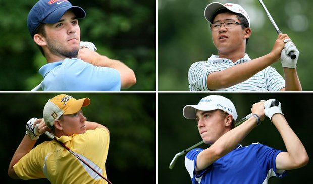 (clockwise from top left) Denny McCarthy, Jim Liu, Justin Thomas and Robby Shelton