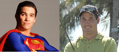 Until this weekend, Dean Wilson (right) could have made more money as a stunt-double for actor Dean Cain.