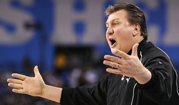 West Virginia head coach Bob Huggins