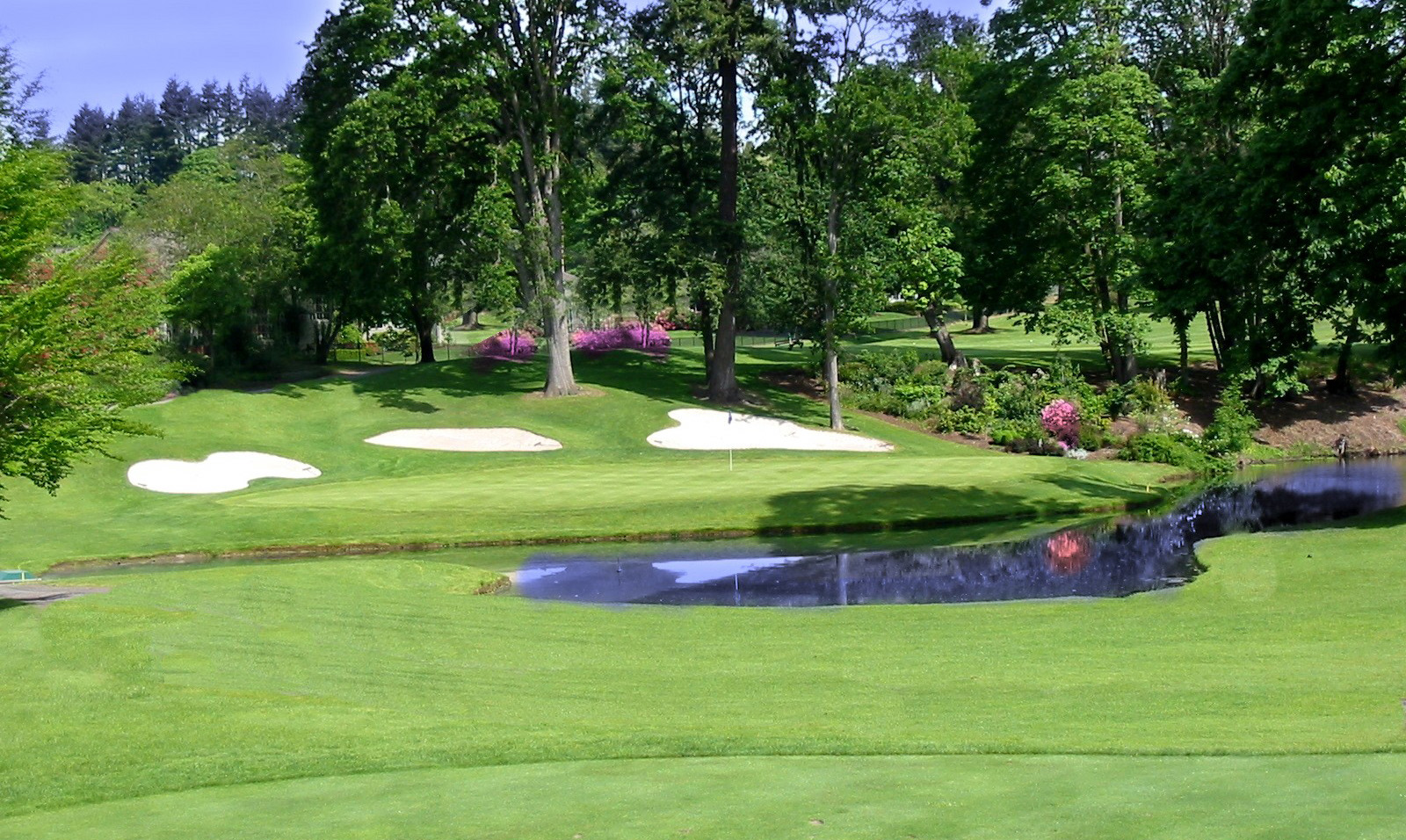 Hole No. 5 at Eugene (Ore.) Country Club, host of the Pacific Coast Amateur Championship.