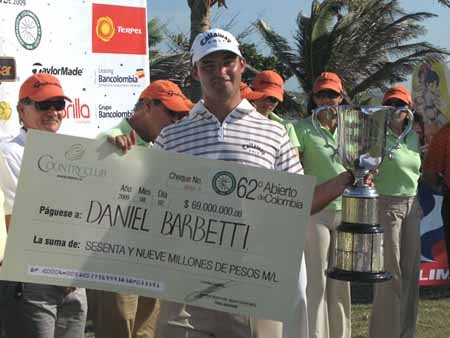 Argentina's Daniel Barbett won the Colombia Open last year.