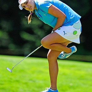 Alexis Thompson during the final round of the Evian Masters.