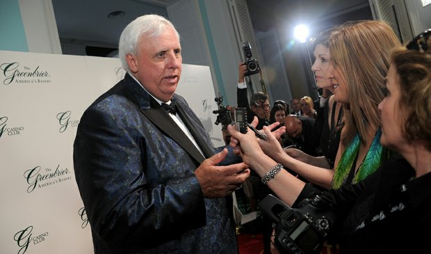 Greenbrier owner Jim Justice at the grand opening of the Greenbrier's new casino.