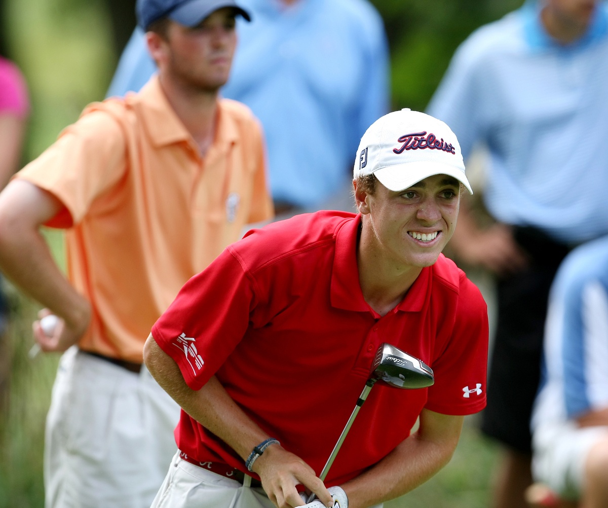 Justin Thomas at the U.S. Junior Amateur.