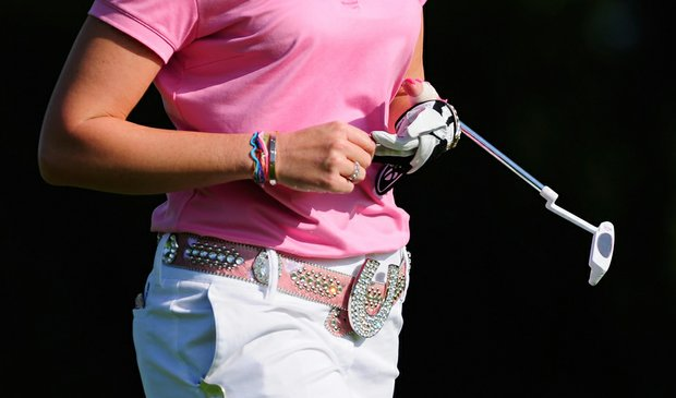 Paula Creamer wore a B.B. Simon belt during the final round of the 2010 Evian Masters.
