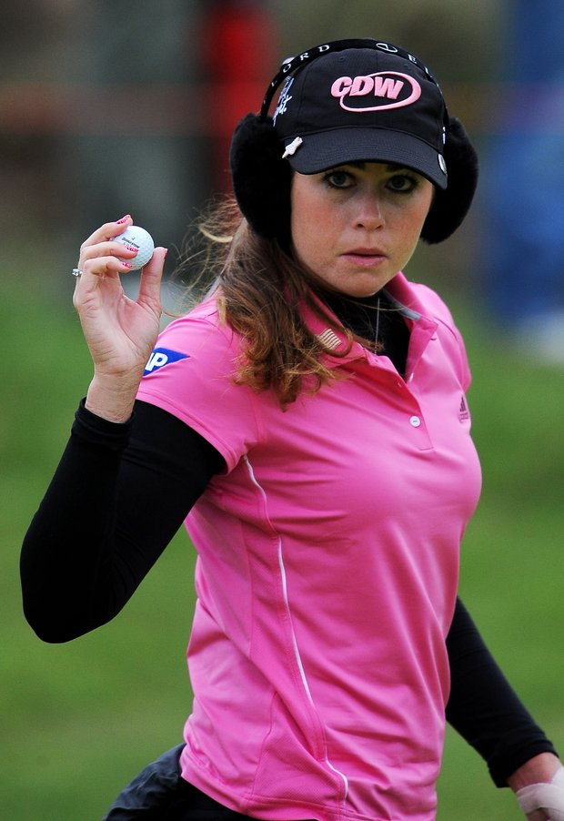 Paula Creamer during the first round of the 2010 Ricoh Women's British Open.