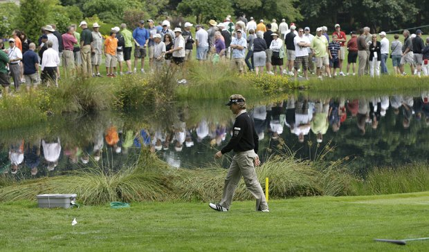 Bernhard Langer during the second round of the U.S. Senior Open.