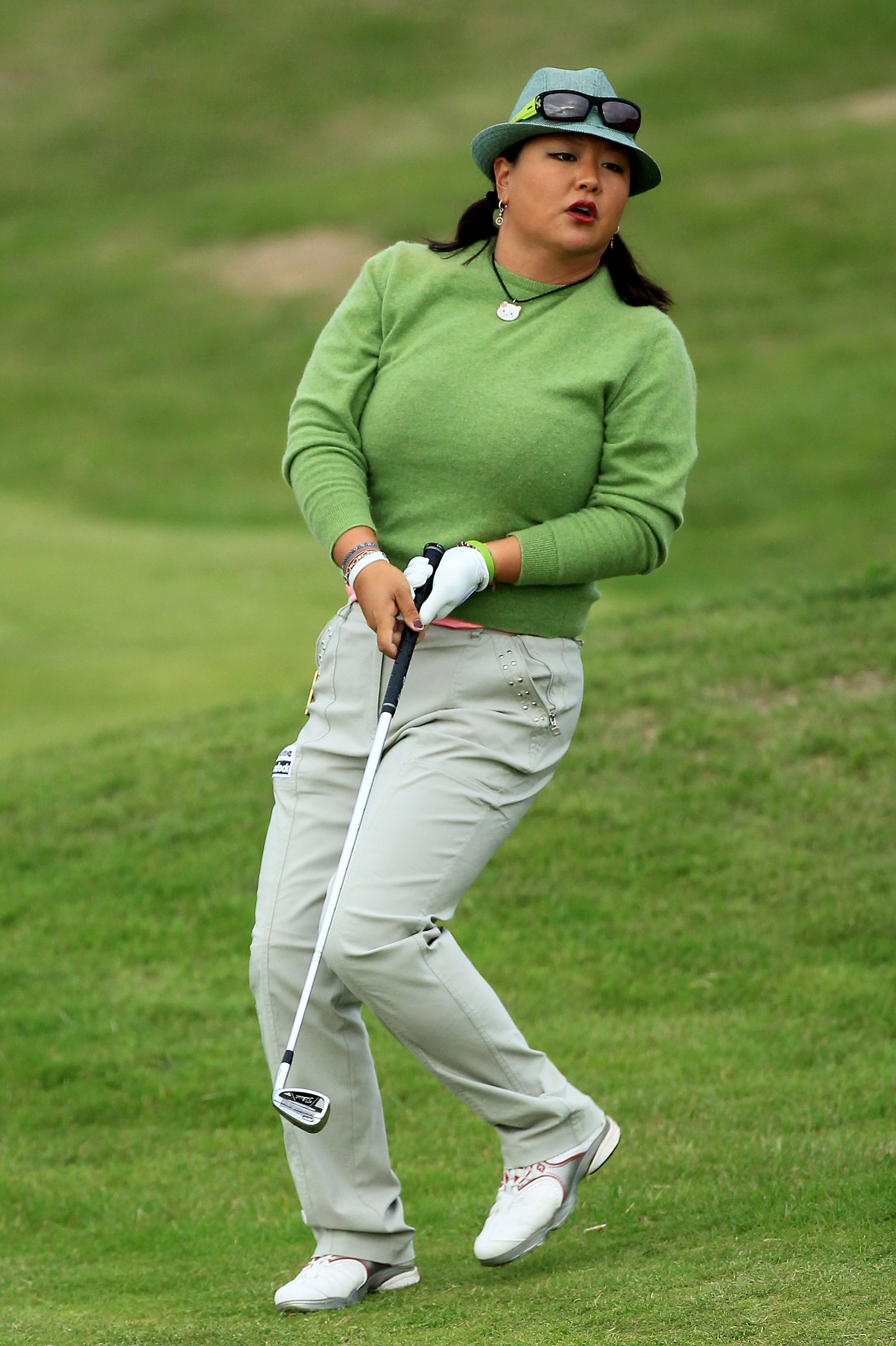 Christina Kim reacts during Round 2 of the Ricoh Women's British Open.