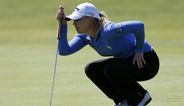 Morgan Pressel during Round 3 of the Women's British Open.