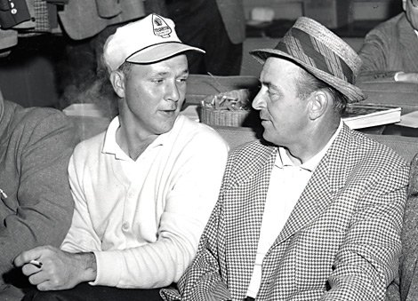 Arnold Palmer and Sam Snead in 1958.