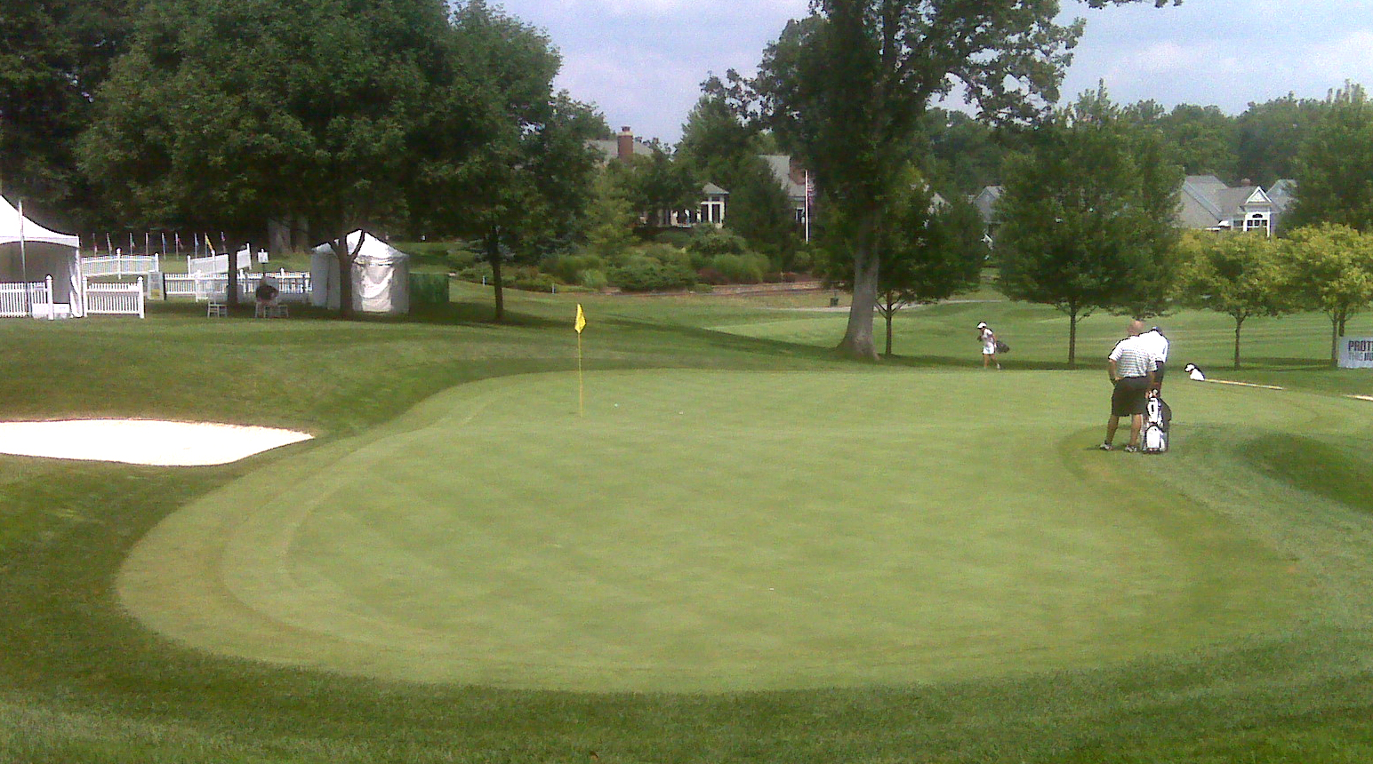 The ninth green at Sycamore Hills Golf Course.